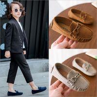 cd8665dd4ba257 Kinder Mokassin Loafers Schuhe Jungen Mode Turnschuhe Kinder Massage  Freizeitschuhe Kinder Mädchen Flache Lederschuhe Größe 21-35