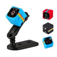 Wholesale minidv recorders - SQ11 Mini Camera HD 1080P Infrared Night Vision Video Voice Recorder Motion Detection Aerial Sports DV Camcorder Car DVR