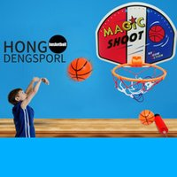 Wholesale Toys Basketball Board - Kids Toy Basketball Hoop Board Plastic Hoop Set With Indoor Hanging Hoops Game kids toys gift for boys children brinquedos #TX
