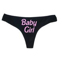 calzoncillos de tanga al por mayor-Bragas de las mujeres atractivas letra impresa escritos pantalones Babydoll ropa interior atractiva ropa de noche traje de baño tangas bragas
