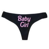 xs thongs achat en gros de-Culottes Sexy Femme Imprimé Lettre Imprimé Slip Pantalon Babydoll Sexy Sous-Vêtements Pyjamas Maillots De Bain Culottes Culottes
