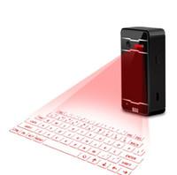виртуальная клавиатура bluetooth для iphone оптовых-Мини беспроводная Лазерная проекция клавиатура портативный виртуальный Bluetooth лазерная клавиатура с функцией мыши для Android iPhone Tablet ноутбук K01