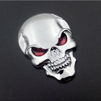 ingrosso badge di avvio per auto-10PCS / Lot 3D Skull Car Boot Chrome Badge Universal Auto Art posteriore Truck Emblem Sticker