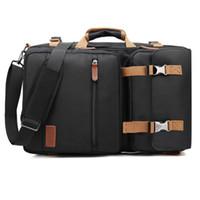 macbook rucksack laptop 15 zoll großhandel-Convertible Rucksack Messenger Bag Schultertasche Business-Aktentasche Reise-Rucksack Multifunktionale Handtasche Laptop-Taschen 17.3 17