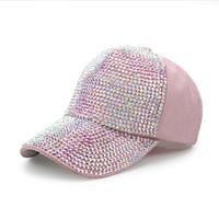 ad5d2a137d2fc mulheres bijuterias strass venda por atacado-Boné de beisebol da menina  chapéu de designer de