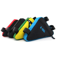 Wholesale red mtb saddles for sale - Group buy B SOUL Colors Waterproof Triangle Cycling Bicycle Front Tube Frame Bag Mountain MTB Bike Pouch Holder Saddle Bag L