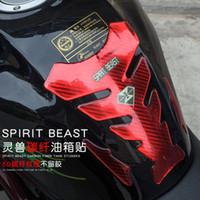 réservoir d'huile pour moto achat en gros de-Esprit Beast moto modifié décoratif corps / huile réservoir tampon pvc autocollant réfléchissant étanche cool style L2