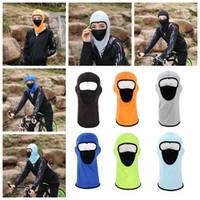 Wholesale wholesale balaclava mask - Outdoor Riding Full Face Mask Net Yarn Ventilation Hat Balaclava Motorcycle Cap Sunscreen Windproof Elastic Headwear DDA594