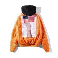 Wholesale United States Uniforms - Europe and the United States tide brand Vetments men and women fashion hip-hop street wearing a flying jacket baseball uniform jacket
