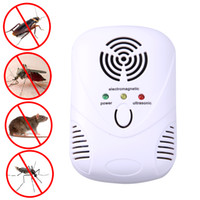 Wholesale cockroach traps - 110 -250v Electronic Ultrasonic Mosquito Killer Mouse Cockroach Trap Mosquito Repeller Insect Rats Pest Control Us  Eu Plug