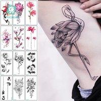 tatuagem de peônias venda por atacado-Mais recente 2018 fashional projetos tatuagem temporária com peônia lotus pêssego pavão tatuagem desenhos à prova d 'água body art adesivo mulheres
