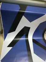 auto körper grafikaufkleber großhandel-Große blaue pxiel stil Camo Vinyl Auto Wrap Mit luftblase Freies Schnee Camouflage Grafiken Auto Aufkleber FÜR HONDA BMW AUDI etc 1,52x30 mt / 5x98ft