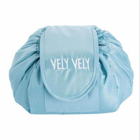 Lazy makeup bag Cosmetic Organizer drawstring storage bag Travel Pouch Simple Style LOGO Customized
