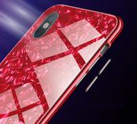 металлические флип-чехлы оптовых-Роскошные магнитные адсорбции телефон чехол для iPhone X 8 7 6 плюс металл Магнит поглощения протектор экрана закаленное стекло откидная крышка
