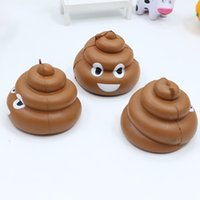Wholesale Poo Soft Toy - Cute Kawaii Poo Emoji Squishy 8.5CM Jumbo Soft Slow Rising Squeeze Stress Stretch Kid Toys Emoji Poo Squishy