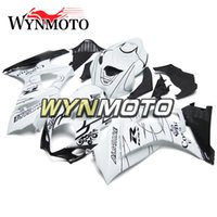 motosiklet korona kiti toptan satış-ABS Enjeksiyon Corona Beyaz Siyah Suzuki 2007 Için Komple Fairing Kiti 2008 2008 GSXR1000 K7 07 08 Motosiklet Kaporta kiti Yeni Kaputlar