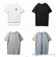 Wholesale cheap cotton t shirts - New 2018 Fashion Brand Summer T-shirt Men Palaces T Shirts Male P Short Sleeves Luxury Designer Top Tee Hommes Hip-hop Street Style cheap sa