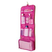 ingrosso sacchi femminili-Caldo! Trucco Organizer multifunzionale Trousse Maquillage femminile sacchetto cosmetico donne appeso borse da toilette