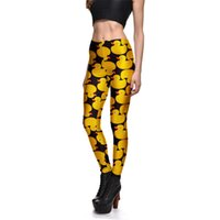 Wholesale sexy yoga pants workout for sale - Pottis Women s Leggings D printed yellow duck gothic sexy size S XL high waist push up fitness workout leggings women yoga pants