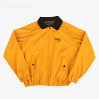 kore erkek ceketi için kıyafetler toptan satış-Erkekler Ceket Bahar Safari Tarzı Sarı Giysiler jaqueta masculina Kore Moda Grup BTS Jung Kook Streetwear casaco