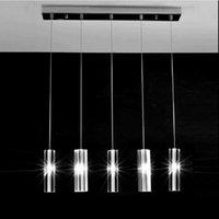 art deco mutfak lambası toptan satış-SVITZ Ev Led Luminaria 5 Adet Yemek Odası Kristal Kolye Işıkları Restoran Bar Için Modern Mutfak Kristal Aydınlatma Led Kolye lamba