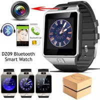 Wholesale Gsm Gps Tracker Camera - Exquisite DZ09 Smart Watch Bluetooth phone Mate GSM For IOS Android Phones HTC Samsung Huawei Support Multi languages