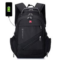 i̇sviçreli seyahat çantaları toptan satış-İsviçre Çok Fonksiyonlu Sırt Çantası Seyahat Çantaları Yürüyüş Kamp Sırt Laptop Çantası Schoolbag Spor Salonu Açık Spor Çantası