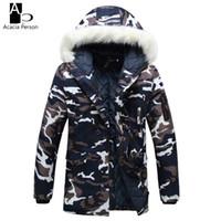 Wholesale Military Fur Coat Men - Camouflage Down Parkas Jackets 2017 Men's Parka Hooded Coat Male Fur Collar Parkas Winter Jacket Men Military Down Overcoat Z36