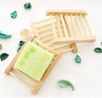 boîtes à savon en bois achat en gros de-Porte-savon en bois Porte-savon en bois Porte-savon Porte-savon Porte-boîte Conteneur pour baignoire Bain Plaque de douche