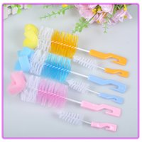 Wholesale baby bottle cleaning - Baby Care Sponge Brush Mother Supplies Scrub Cleaning Tool Brushs Milk Bottle Cup High Quality Plastic Reusable Eco Friendly 1 2hx jj