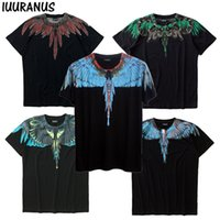 рубашки оптовых- Wings T-shirts Summer Men Women Italy Marcelo Burlon T-Shirt RODEO MAGAZINE MB Top Tees Fashion Marcelo Burlon T-Shirts