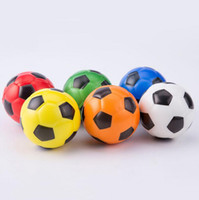 Wholesale football soft toys for sale - Group buy 6 cm Football Print Sponge Foam Toys Soft PU Fidget Stress Noverty Soccer Decompression Sport Toys Children Adult Gifts FFA161