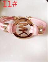 Wholesale children's bracelets online - HOT Fashion children accessories handmade retro PU leather bracelet men s ladies fashion bracelet men and women jewelry