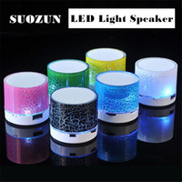 Wholesale SUOZUN A9 LED Bluetooth Speaker Mini Speakers Hands Free Portable Wireless Speaker With TF Card Mic USB Audio Music Playe