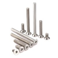 Wholesale a2 stainless steel online - set M8 mm Allen Drive Flat head Countersunk Bolts Machine Screw A2 Stainless Steel