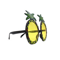 Wholesale hot hen party - Hot Summer Beach Pineapple Sunglasses Yellow Beer Glasses HEN PARTY FANCY DRESS Goggles Funny Halloween Gift Fashion Favor