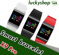 Wholesale F1 White - Smart Bracelet X9 Pro For Android IOS Bluetooth Band Heart Rate Blood Pressure Pedometer phone Smart Wristband PK xiao mi band2 F1 S2 M2S S3