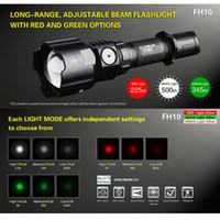 yakınlaştırılabilir beyaz ışık toptan satış-KLARUS FH10 Zumlanabilir Taktik Av Feneri Torch 3000 mW Yeşil Kırmızı LED Işık Beyaz Işık 700 Lümen 500 m 18650 Tarafından Mesafe