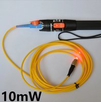 Wholesale Locator Light - Free Shipping Fiber Optic Red Laser Light Pen Visual Fault Locator VFL 10mw