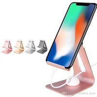 metallstandplatz für iphone ipad großhandel-Universal Aluminium Metall Telefon Ständer Halter für iPhone 6 6 s 7 8 X Tablet Schreibtisch Halter steht für iPad Smartphone Unterstützung Stye2