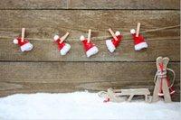 fotografía navidad telones digitales al por mayor-SHANNY vinilo personalizado fotografía contextos Prop Digital impreso día de Navidad Photo Studio fondo NTWG-593