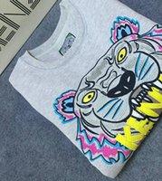 Wholesale men hoodie jumpers - Hot Men Women Embroidere tiger logo sweater tracksuits jumper jacket Women's Hoodies & Sweatshirts