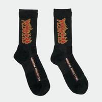 yeni kaykay çorapları toptan satış-Heron Preston Alev HP Nakış Dikiş Pamuk Havlu Çorap Sportif Çorap Yeni Moda Sokak Kaykay Erkekler Kadınlar Çorap HFYMWZ001