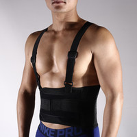 Wholesale safety belt working resale online - Bodybuilding Weightlifting Sports Safety Pressurized Belt Adjustable Waist Support Fitness Work Supplies Motion Fixed Strap Hot Sale gs WW