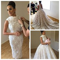 Wholesale online training for sale - Group buy 2018 Vintage Slim Lace Sheath Wedding Dresses With Detachable Train Bridal Gowns Backless Custom Online Beaded Pearls Vestidos De Novia