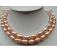 Wholesale 35 inch south sea pearls for sale - Group buy Elegant mm Natural South Sea Pink Pearl Necklace Inch K Gold Clasp