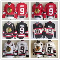 Wholesale Quick Shipment - 2018 Men Hockey jerseys 9 Bobby Hull Top Quality Throwback jerseys Hot Sale Stitched steeler jersey Cheap Mix Order Fast shipment Red White