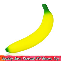 esguicho de alívio de estresse venda por atacado-1 PCS Kawaii Banana Squishy Kids Toys Slow Rising Squishies Squeeze Toy for Home Decor Stress Relief Gifts for Teens Adults Scented Ornament
