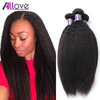Wholesale 22 inch yaki hair weave for sale - Group buy Allove A Brazilian Human Hair Yaki Straight Malaysian Hair Weaves Peruvian Virgin Hair Indian Human Virgin Extensions