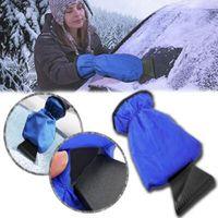 Wholesale snow removal scrapers resale online - Car Snow Ice Shovel Scraper Glove Removal Clean Tool Warm Gloves Car Ice Scraper Waterproof Gloves Snow Shovel Gloves CCA8885